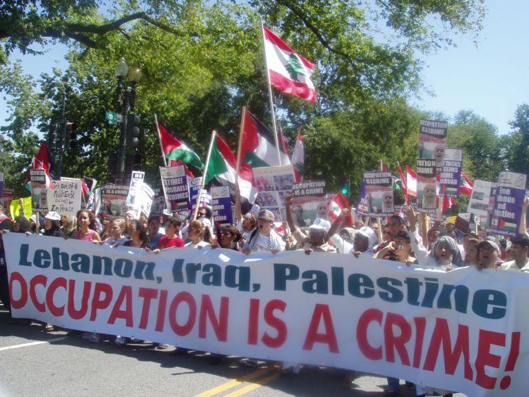 12 August 2006, Washington, DC Lebanon, Iraq, Palestine, Occupation Is a Crime