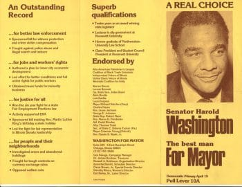 Senator Harold Washington for Mayor