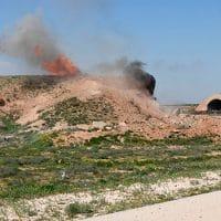 Aftermath of the US missile attack on a Syrian military airbase © Mikhail Voskresenskiy / Sputnik