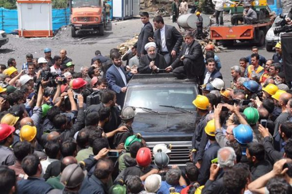 Protesting Miners in Iran