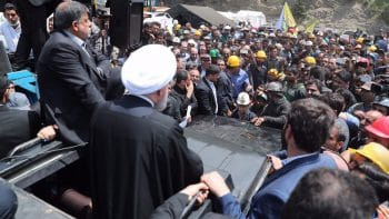 Protests emerged in Golestan province where at least 26 miners were killed in an explosion on May 3, 2017