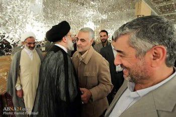 Qasem Soleimani (R) and Ebrahim Raisi