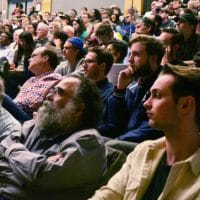 "Attendees at York University's international conference on ""Marx's Capital after 150 Years"""