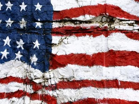 U.S. Crumbling Flag