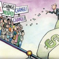"Capitalists Tipping Scales ""Change"""