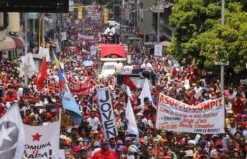 Venezuelan commune movements march in support of the upcoming Constituent Assembly