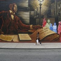 W. E. B. Du Bois mural in Philadelphia, 2011. Photograph by Laurenellen McCann / Flickr