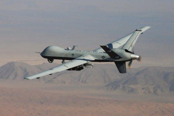 The MQ-9 Reaper, a combat drone, in flight