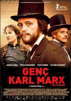 The Young Karl Marx poster in German