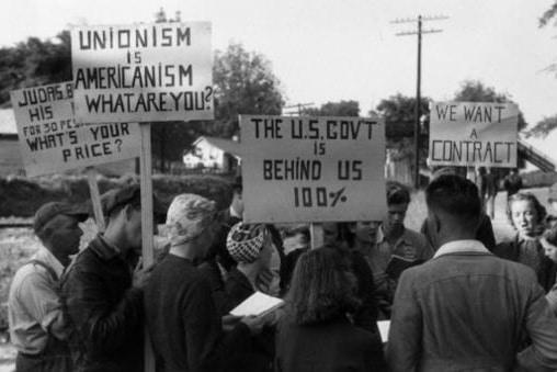   A union march in Detroit   MR Online