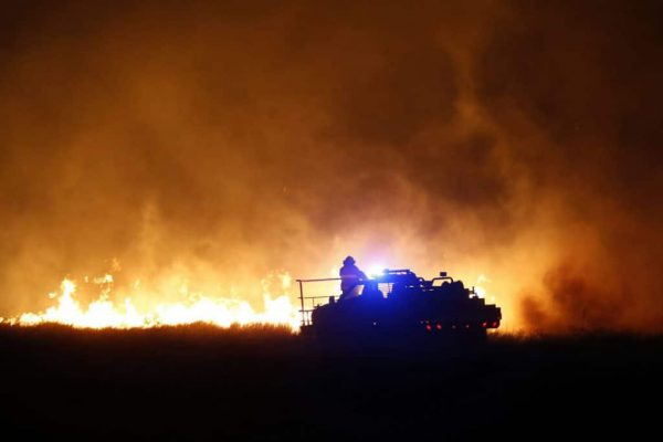 Wildfire in Kansas
