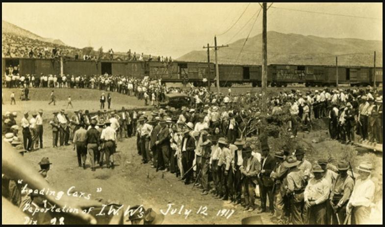 | Bisbee Deportation IWW to Cattle Cars July 12 1917 | MR Online
