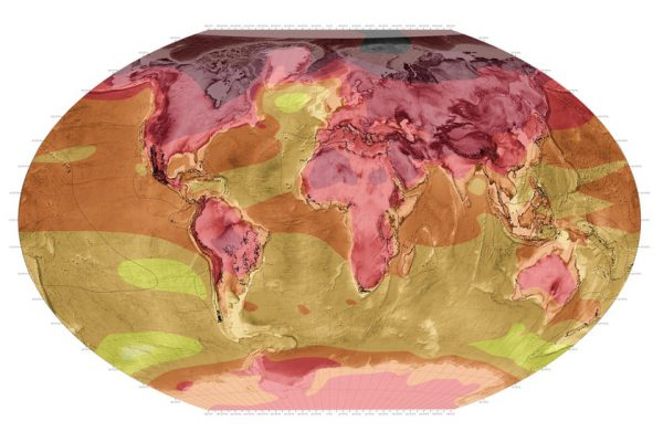 World Map Climate Change
