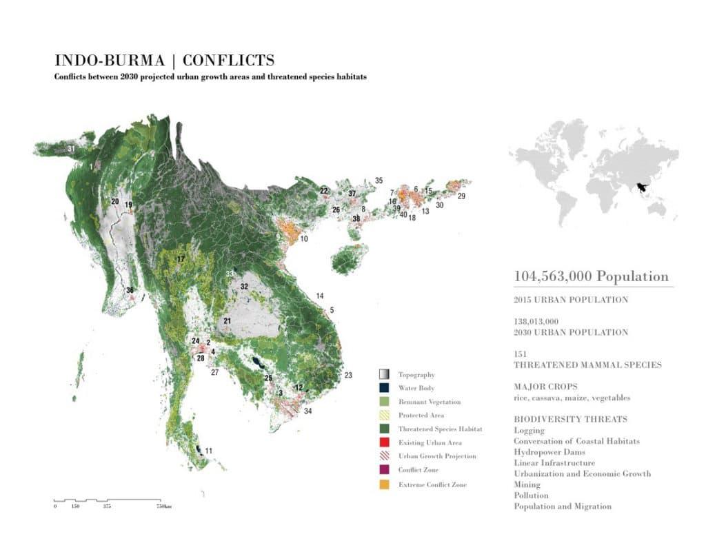 Indio-Burma Conflict Map