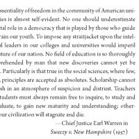 Quote from Chief Justice Ed Warren in Sweezy v. New Hamphsire