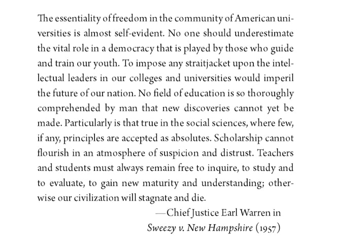 | Quote from Chief Justice Ed Warren in Sweezy v New Hamphsire | MR Online