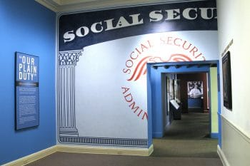 Social Security exhibit at the Franklin D. Roosevelt Library. Photo credit: FDR Presidential Library & Museum