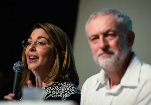 Naomi Klein and Jeremy Corbyn