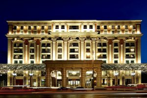 The luxury Ritz-Carlton Hotel in Moscow