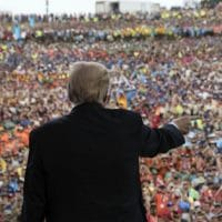 "Trump criticized the ""fake news"" media, Hillary Clinton and Barack Obama in his speech at the Boy Scouts Jamboree Monday night. (Photo: Алексей М/Flickr/cc)"