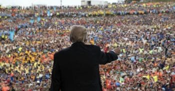 """Trump criticized the """"fake news"""" media, Hillary Clinton and Barack Obama in his speech at the Boy Scouts Jamboree Monday night. (Photo: Алексей М/Flickr/cc)"""