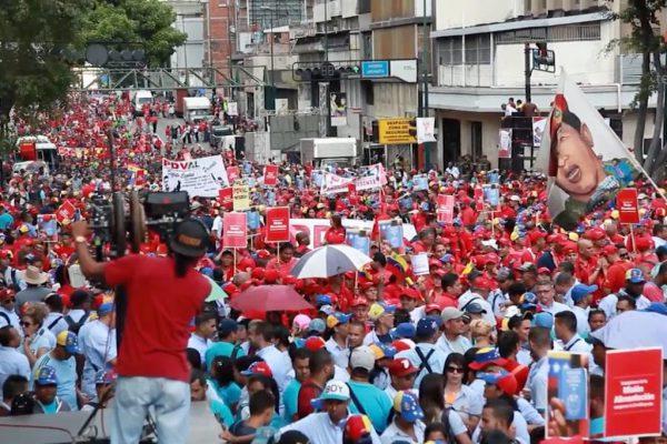 Venezuelan marchers