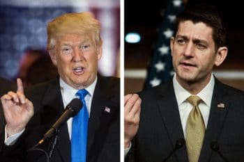 Donald Trump, left, and House Speaker Paul D. Ryan Credit From left: Damon Winter/The New York Times, Gabriella Demczuk for The New York Times