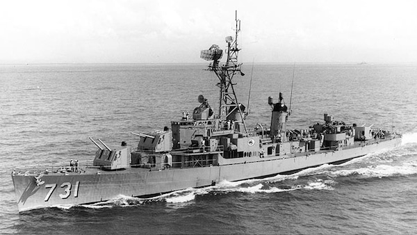 The USS Maddox in the Gulf of Tonkin. (photo: US Navy)