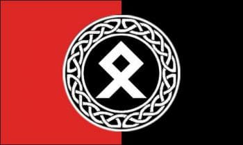 The banner image of a Facebook page that appears to belong to Fields features the Othela rune, popular among Neo-Nazis and the far right.