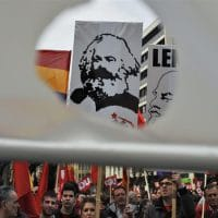 The face of Karl Marx