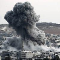 U.S.-Led Coalition Bombards ISIS With 150 Airstrikes Near Syria's Raqqa.