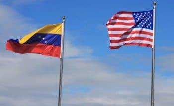 Venezuelan and American flag