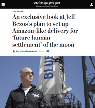 Jeff Bezos's plan to set up Amazon-like-delivery for 'future human settlement' of the moon