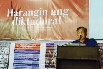 Intervention by Walden Bello at National Anti-Dictatorship Conference, University of the Philippines at Diliman, July 20, 2017.