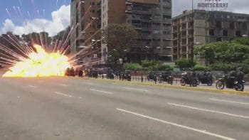 Sunday's vote was rocked by a roadside bomb explosion in the wealthy eastern Caracas municipality of Chacao.