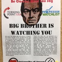 Flyer produced by the UO student group Anti-Fascist Action