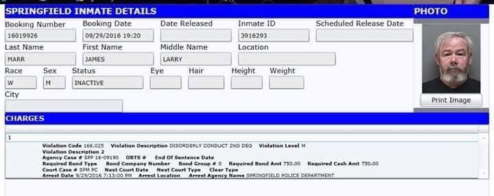 Neo-nazi Jimmy Marr's arrest record