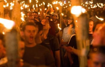 Fascist torch march in Charlottesville (8/11/2017)