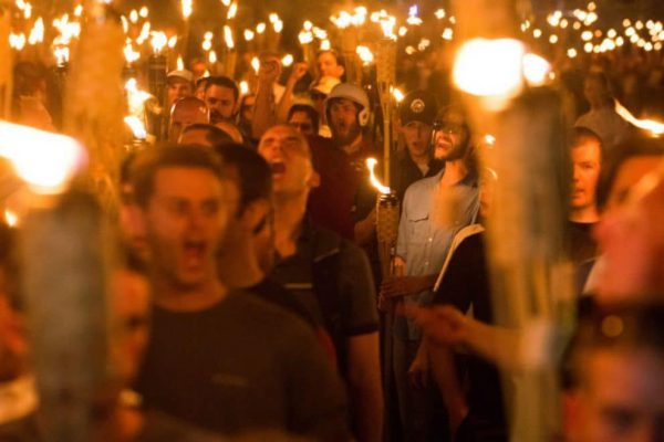 Fascist torch march in Charlottesville (8/11/2017)