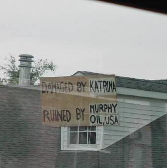 Neighborhood contaminated by Murphy Oil spill after Katrina