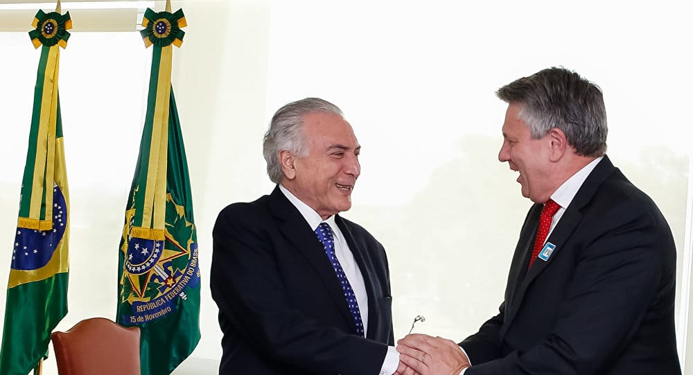Shell CEO and Michel Temer / Photo credit: Sputnik Brazil