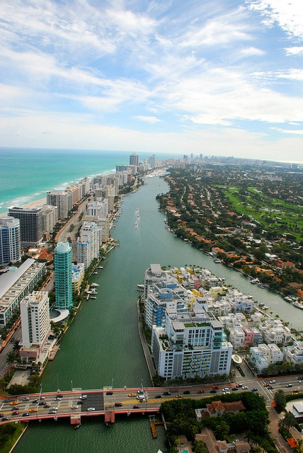 Aerial photo of Miami