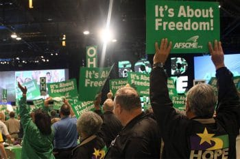AFSCME members rally