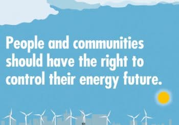 People & communities should have the right to control their energy future