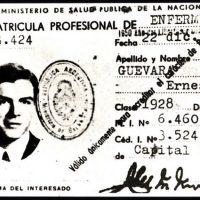 Che's professional ID card in Mexico. Photo: Marta Rojas