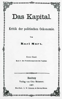Das Kapital, the first edition from September 1867.