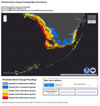 Potential Storm Surge Flooding Map (Inundation)