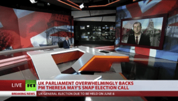 The Westminster bubble hasn't quite been popped - but is certainly ruptured | Photo: Screen shot from RT