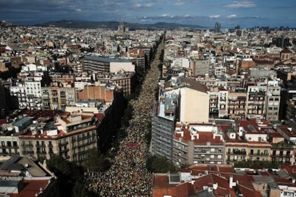 For the sixth year in a row, more than one million people came out for the National Day of Catalonia on September 11.