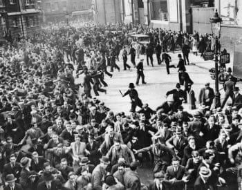 Riots between anti-Fascists and Blackshirts (British Fascists)